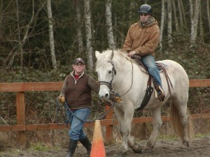 Charmeon under saddle