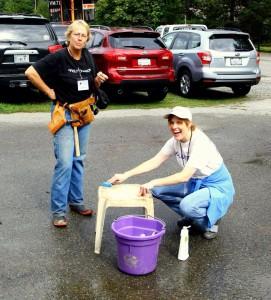 Long Time Volunteers Caren and Shar