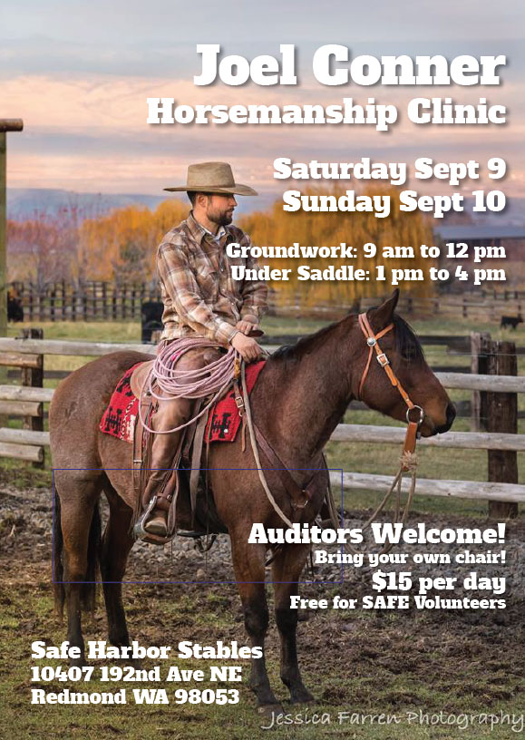 Joel Conner Horsemanship Clinic — Sept 9-10, 2017