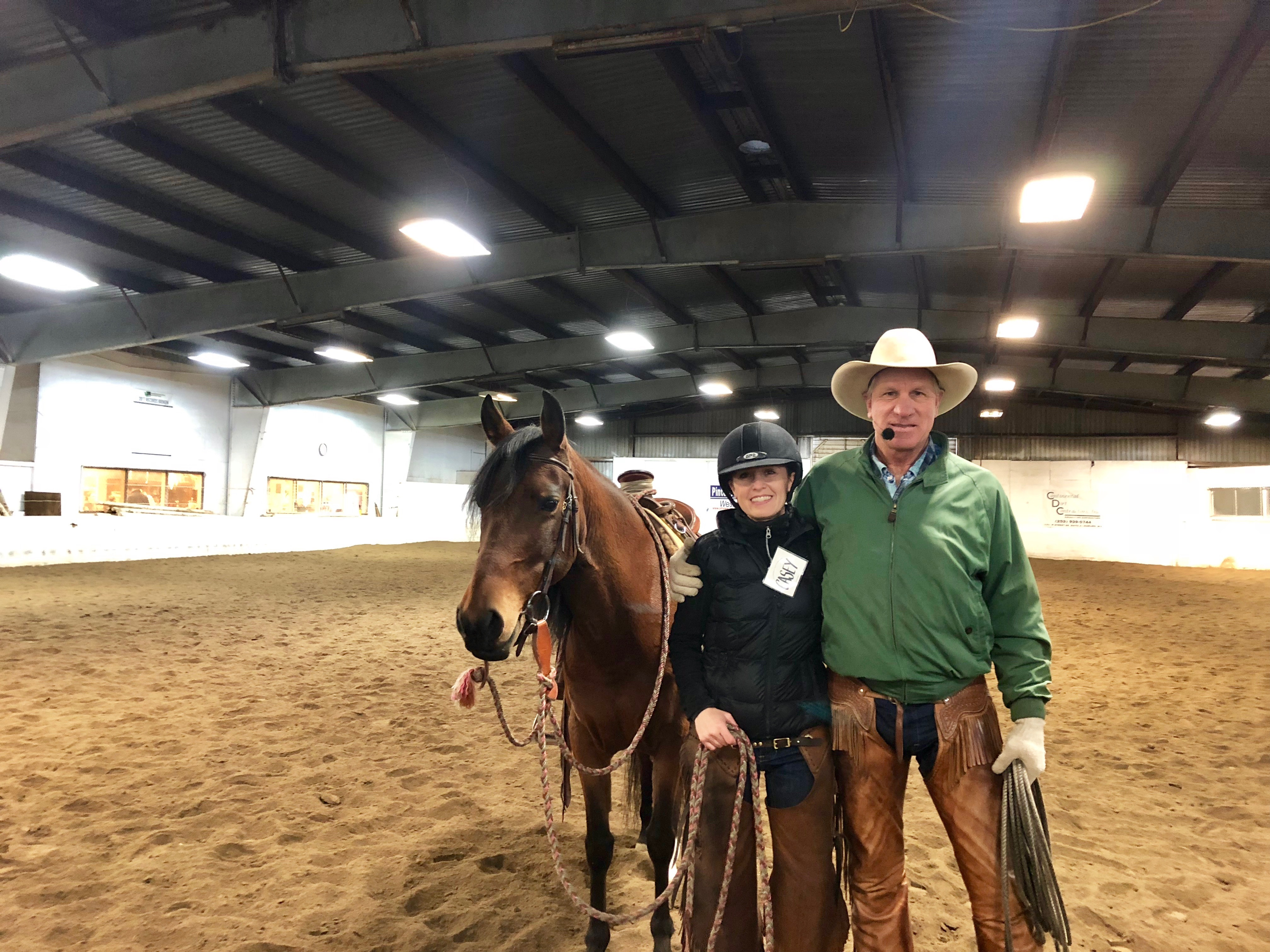 Stella Rides with Buck Brannaman