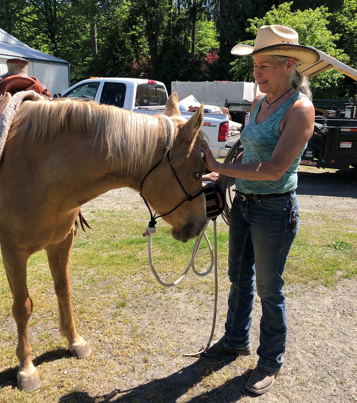 Amelia Under Saddle